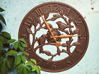 "Woodridge Bird 16"" Indoor/Outdoor Wall Clock"