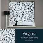 Blackout Roller Blind Patterned Roller Blind Popular Black & White Swirl Design