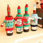 Christmas Table Sweater Wine Bottle Cover Cap Tree Oranments Decor