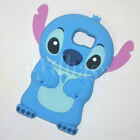 3D Blue Stitch Cartoon Silicone Soft Back Case Cover For Samsung Galaxy S6 & S7
