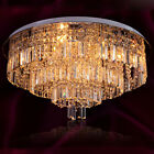 Ceiling light fixture Multi-Tier Clear Crystal Round Flush Mount Chandelier
