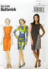 BUTTERICK PATTERN DRESS CLOSE FITTING 3 DESIGNS EASY SIZE 14-22 # B6166