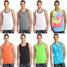 New Men's Tank Top Muscle Workout T-Shirt Tie Dye Dyed Died Two Tone Sleeveless image