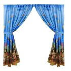 Underwater Sea Life 100% Polyester Window Curtain with Tie-Backs FWC-SEA
