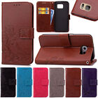 Clover Leather Card Wallet Stand Case Cover For Samsung Galaxy S3S4S5S6S7 Edge