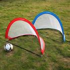 Pair Of Pop Up Soccer Goal Portable Soccer Nets with Carry Bag 2.3'/4'/6' X8D7