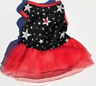 Pet Dog stars & flag colors-4th of July-Spring-Summer girl puppy in small sizes