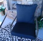 Black Solid Cushion & Pillow Set for Patio Dining, Choose Size