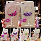 Bling Star Wineglass Glitter Phone Case Cover For iPhone 6 6s 7 Plus