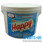 Happy Chlorine Tablets 200g 2kg Swimming Pools Hot Tubs Spas