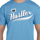 Carolina Powder Baby Blue King Hustler Swoosh Logo Graphic T shirt