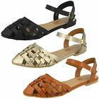 Womens Spot On Ankle Strap Sandal F0856