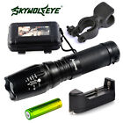 12000LM Police CREE T6 LED Cycling Bike Lamp 18650/AAA Flashlight 360°Mount Clip