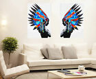 2x Huge Street Pop Wall Art Indian Chief Feather  Print Urban Painting Choose