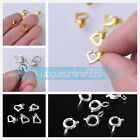 Plated Silver/Gold Lobster Clasp Connector Bracelet Buckle DIY Jewelry Findings