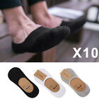 Lot 10 Pairs Invisible Trainer Liner Socks No Show Secret Footsies Adults Mens
