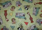 Bazooples Campout Tossed Campers CP62949 Springs Sewing Quilting Cotton Fabric