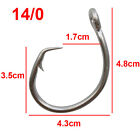 30/50pcs 39960 Tuna Circle Big Game Saltwater Hook Stainless Steel Fishing Hooks