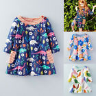 Flower Girls Princess Dress Kid Baby Party Wedding Floral Tops Dresses Clothes