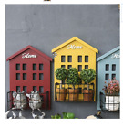 New Glass Vases HOME Creative Pastrol Style Wall Flower Box Wall Sundries Storag