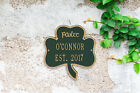 Shamrock Personalized Address Plaque