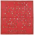 Authentic Hermes Silk Scarf I LIKE FLOWERS Leigh P Cooke Red