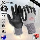Cut Resistant Safety Nitrile Work Gloves Super Shield Hand Protection 5 Pairs