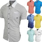 Kyпить Mens BUTTON DOWN SHIRTS Casual Dress Tee Short Sleeve Slim Fit Summer Woven на еВаy.соm