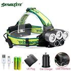 40000LM 5X XML T6 LED Rechargeable USB Headlamp Headlight +Battery AC Charger TR