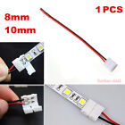 1x 2Pin Flexible Connector Solderless For Single Color 3528 5050 5630 Led Strip