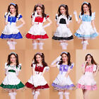 Women Cosplay Maid Outfit Fancy Dresses Uniform Ruffle Lolita French Partywear