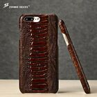 Real Genuine Cowhide Cow Leather Amber Cover Back Case For Apple iPhone 6 7 Plus