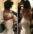 New Africa Luxury Bead White Mermaid Wedding Dresses Sweetheart Off The Shoulder