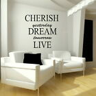 Cherish Dream - Motivational Quote / Wall Decor / Inspirational Wall Quoteniq37