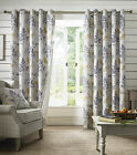 Sycamore Curtains Teal Blue Floral Curtains, 46,66 & 90 inch wide, 54, 72, 90...