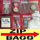 2 Mil Clear Plastic Zip Bag Ziplock Bags Reclosable All Sizes Poly Coins/Jewelry
