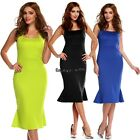 Stylish Lady Sexy Women's Solid Sleeveless Party Cocktail Long Dress OO5501