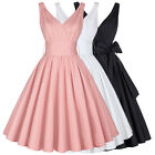 Vintage Pin Up Party Gown Dress 50s Swing Evening Cocktail Dance Prom Dresses