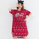 Plus Size Women's Summer Unique Printing Short SleevesT-Shirt Dress Oversize