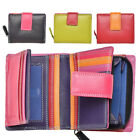 Ladies Premium Super Soft Leather Flip Out Purse in Multi Colours - RFID Safe