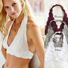 New Womens Halter Lace Crochet Crop Top Strappy Bra Vest Tank Beach Tops Blouse
