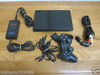 USED Official Sony Playstation 2 PS2 Black Console SCPH-75001 Bundle - WORKS!