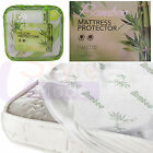 QUALITY BAMBOO MEMORY FOAM MATTRESS & PILLOW PROTECTOR SIZES SINGLE DOUBLE KING