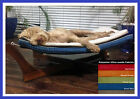 CLEARANCE Paws A While Pet Hammock, Stain Resistant Suede Fabric 5 COLOURS Large