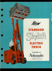 Automatic Skylift Standard Forklift Electric Truck Super Duper Rare Brochure