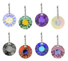 Sterling Silver Earrings Safety Hooks with SWAROVSKI 6724 Sun 19mm Crystals