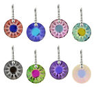 Sterling Silver Earrings Hooks with SWAROVSKI 6724G Sun 19mm Frosted Crystals