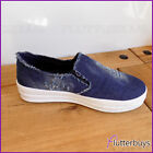 Womens Canvas Pumps Denim Deck Shoes Jeans Trainers Beach Slip on Ladies New
