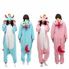 Unisex Adult Unicorn Kigurumi Pajamas Animal Cosplay Costume Onesi Sleepwear