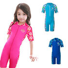 Kids Girls Swim Swimsuit 3-10Y Boys Rash Guard Flower Bathers Beach Swimwear